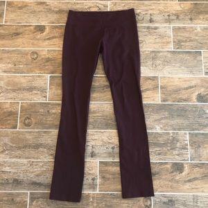 Lululemon Plum Purple Slim Boot Long Leggings